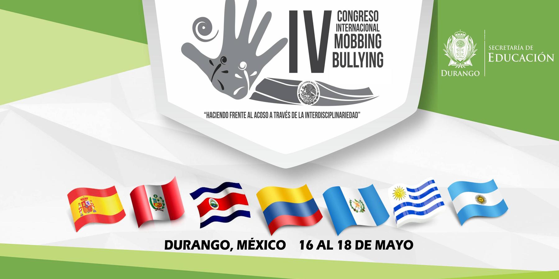 Resultado de imagen para congreso internacional de mobbing y bullying durango
